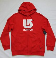 BURTON SNOWBOARD MENS LOGO VERTICAL HOODED SWEATSHIRT JACKET SNOW SKI HOODIE M