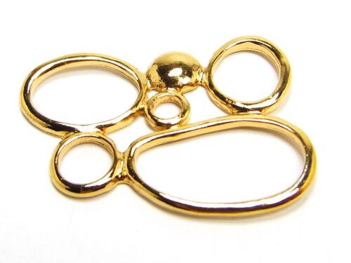 metallzierteil Hermosa perla de metal 28 x 23 mm dorados; zkd52