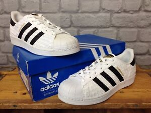 Woven Oro Superstar 39 Uk 3 Eu Adidas Zapatillas 1 Mens 6 Negro Blanco 75 £ Rrp Cw7Rpxqf