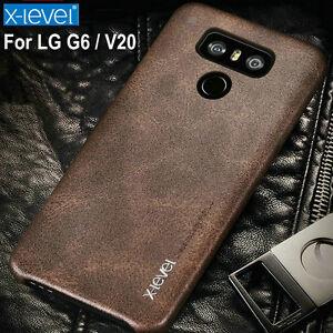 premium selection 09a1c 4fcc8 X-level Vintage PU Leather case for LG G6 / V20 Ultra thin Slim back ...