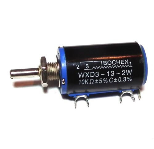 NEW WXD3-13-2W 10K ohm Rotary Multiturn Wirewound Potentiometer Good UK STOCK