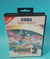 Sonic The Hedgehog 2 SEGA Master System Retro Video Game Robotnik Boxed