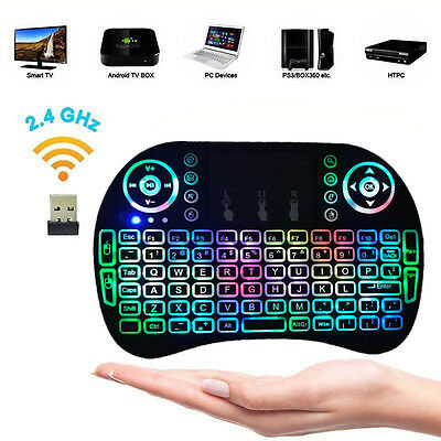 Backlit LED Mini 2.4G Wireless Keyboard Touchpad for PC Android TV Box Smart TV