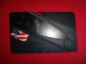 USA Flag Sinclair Credit Card Folding Knife *New, Never Used*