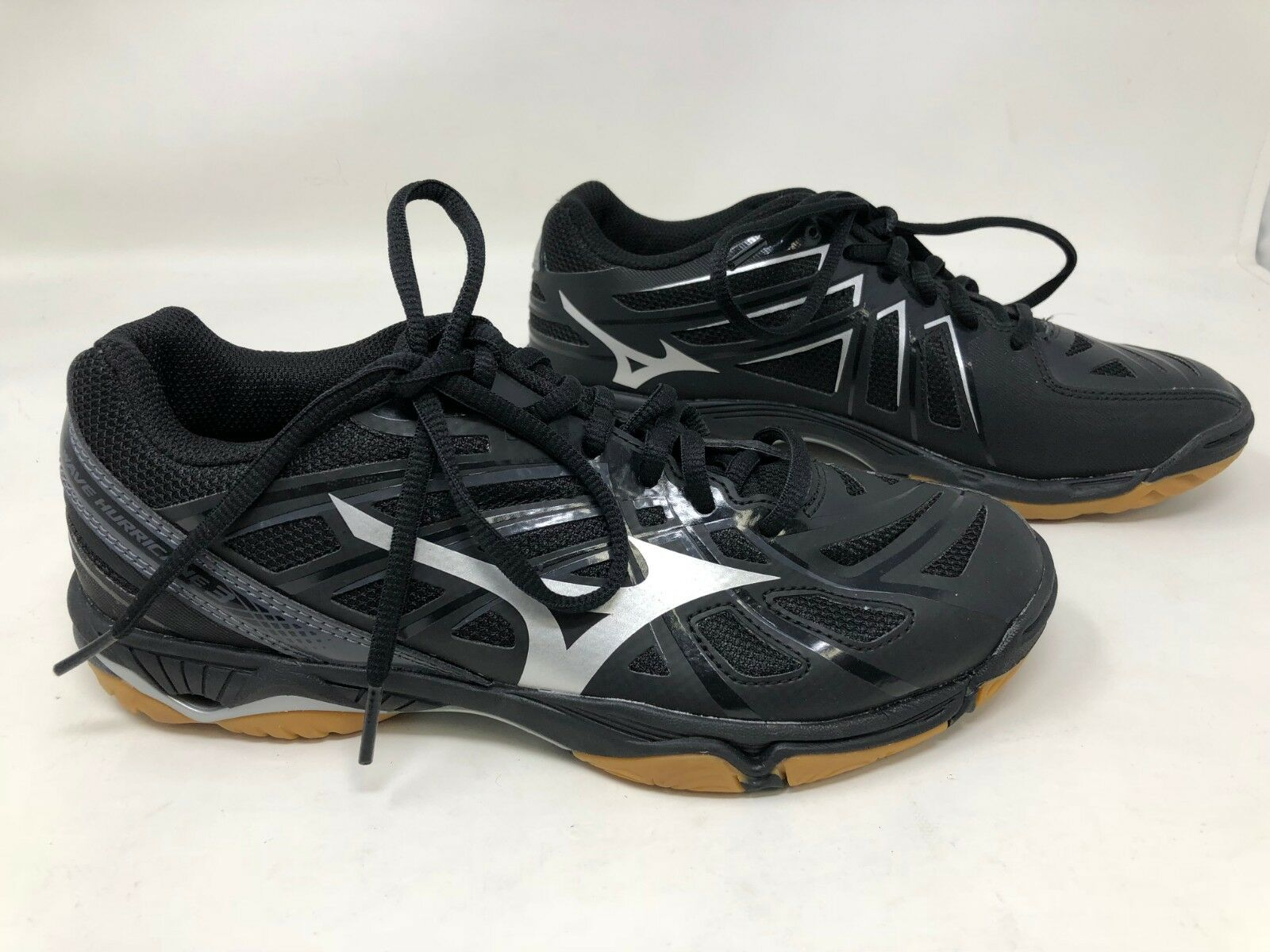 Nuevo    para mujer zapatos de Vóleibol Mizuno Wave Hurricane 3 Negro 430225-9073 9S  saludable
