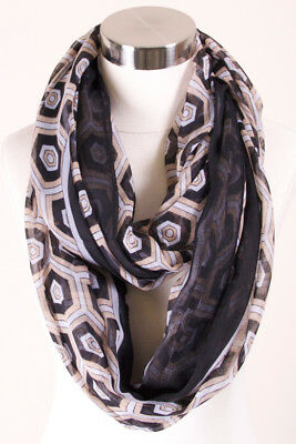 Jinscloset Women/'s Fashion Multi Pattern Triangle Print Infinity Scarf