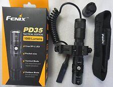 FENIX PD35 TAC Tactical LED Flashlight Weapon Kit offset Mount, Pressure Switch