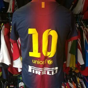 Barcelone-2012-Home-Football-Shirt-10-Messi-Nike-Jersey-Taille-enfant-XL-Boys