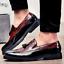 Fashion Men Tassels Loafers Dress Smart Oxfords Retro Formal Party Brogue Shoe D