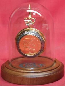 COLT-Firearms-Franklin-Mint-Factory-Lightning-Pocket-Watch-with-Stand