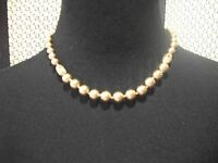 Monet Necklace Champagne Faux Pearls Great Gift Free Ship