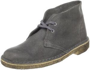 Clarks Originals Desert Donna Grigio con effetto invecchiato Lace up Boot
