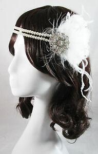Paris-vintage-gatsby-1920s-costume-white-flapper-feather-fascinator-head-piece