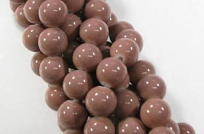 20 Glasperlen Rund Opak 12mm Glas Perlen FARBAUSWAHL