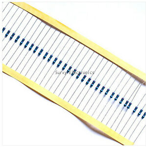 1000pcs 1//4w Watt 1M ohm 1Mohm Metal Film Resistor 0.25W 1/%