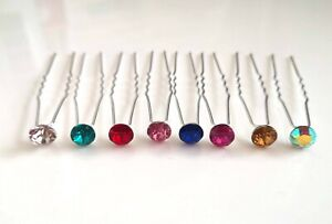 Hair-Pins-Ladies-Adults-Dance-Ballet-Crystal-Accessories-Piece-Diamante-UK