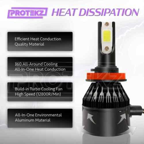 Protekz 9006 LED Headlight Kit Plug/&Play CREE Turbo CoolFan Fast Light up 2Bulbs