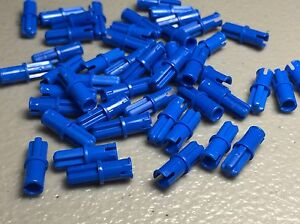 Lot of 100 Lego Axle Pins Friction w// Ridges BLUE Technic Mindstorms Part 43093