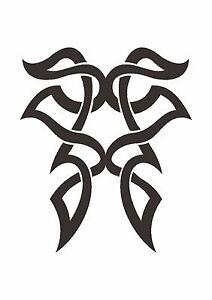 Celtic-Inspired-Butterfly-Knot-Stencil-350-micron-Mylar-not-thin-stuff-TaT0075