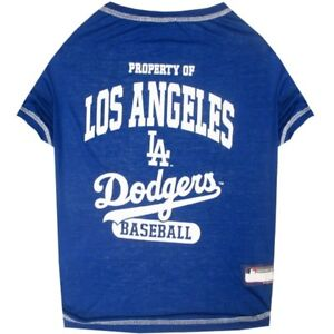 Los-Angeles-Dodgers-Officially-Licensed-MLB-Dog-Pet-Tee-Shirt-Blue-Sizes-XS-XL