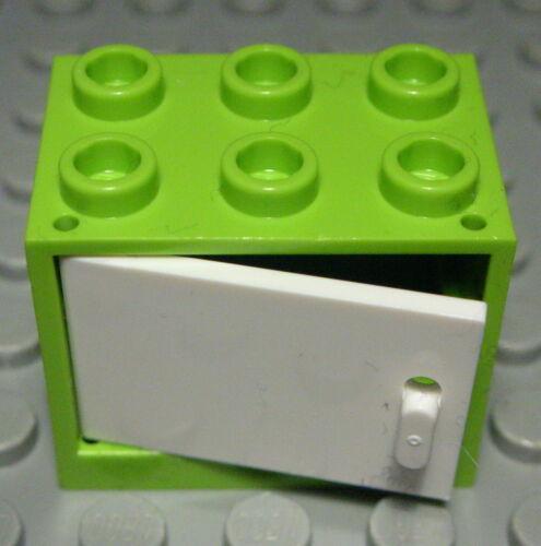 LEGO armoire 2x3x2 lime vert clair avec weisser porte 662