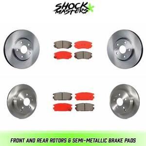 2010 2011 2012 for Chevrolet Equinox Front /& Rear Brake Rotors /& Pads 321mmRotor