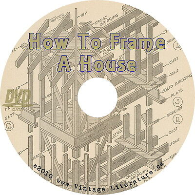 How To Frame a House { Roofs Stairs Walls Windows Railings } on  DVD