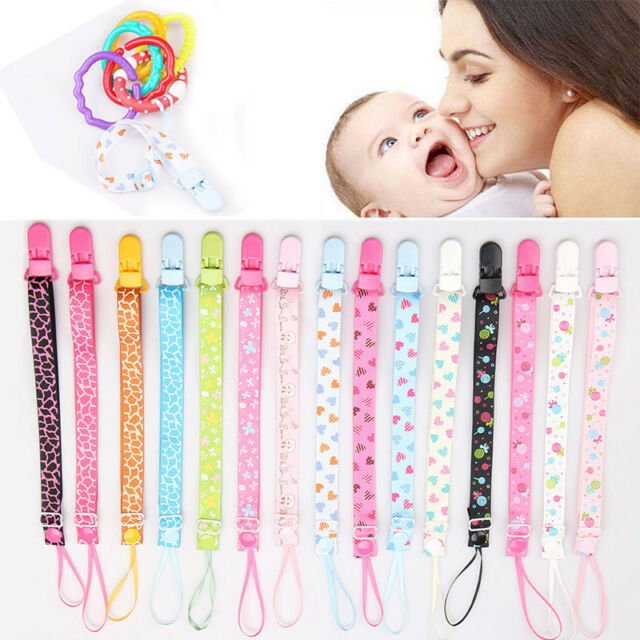 Infant Newborn Baby Dummy Chain Pacifier Clip Holder Soother Nipple Leash Strap