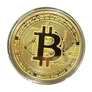 Bitcoin Coin Malaysia Stock Gold Plated (FOR DISPLAY ONLY)