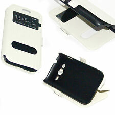 custodia eco pelle bianca per Samsung galaxy Trend 2 SM-G313 Ace nxt cover Stand