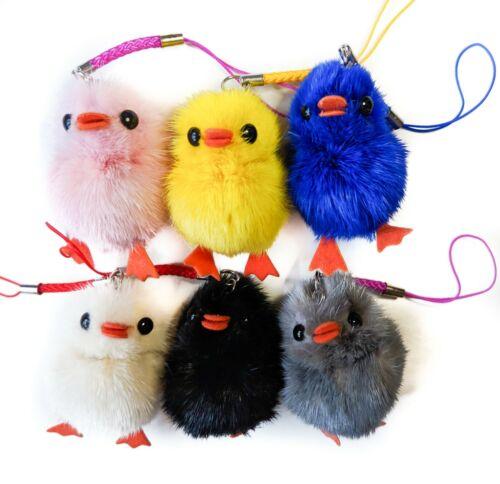 Lucky Bird Charm Duck Cartoon Boys Girl Figurine Gift Fur Natural Colour Trendy