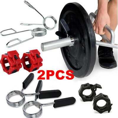28mm Dumbbell Clamps Gym AQOS Dumbbell Spring Necklaces Spring Disc Holders Crossfit 4 Pack Weights Spring Clamp for Dumbbell and Bars