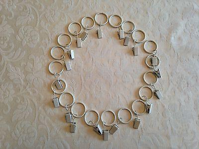 Energiek 20 X Metal Cream Curtain Hanging Pincer Clip Rings For Nets Shears Voile Geschikt Voor Mannen En Vrouwen Van Alle Leeftijden In Alle Seizoenen