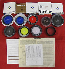 14 Assorted Camera Filters – Nikon, Vivitar, Hoya, Tiffen, Gemini
