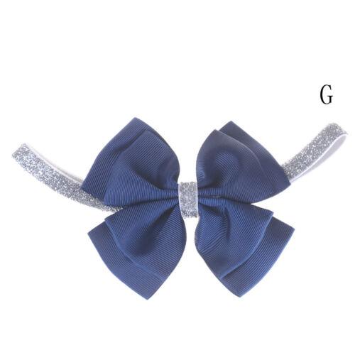 Cute Baby Girls Toddler Newborns Big Headband Headwear Hair Bow Accessories JDUK