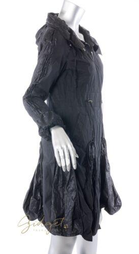 Lagenlook Coat Black Paris T1 Hooded Størrelse Funky Areline Jacket n0AqxpA