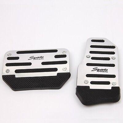 2pcs Aluminum Non-Slip Automatic Car Brake Accelerator Pedal Pad Cover Set