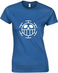 Heart-Pirates-Anime-One-Piece-Inspired-Ladies-039-Printed-T-Shirt-Women-T-Shirt