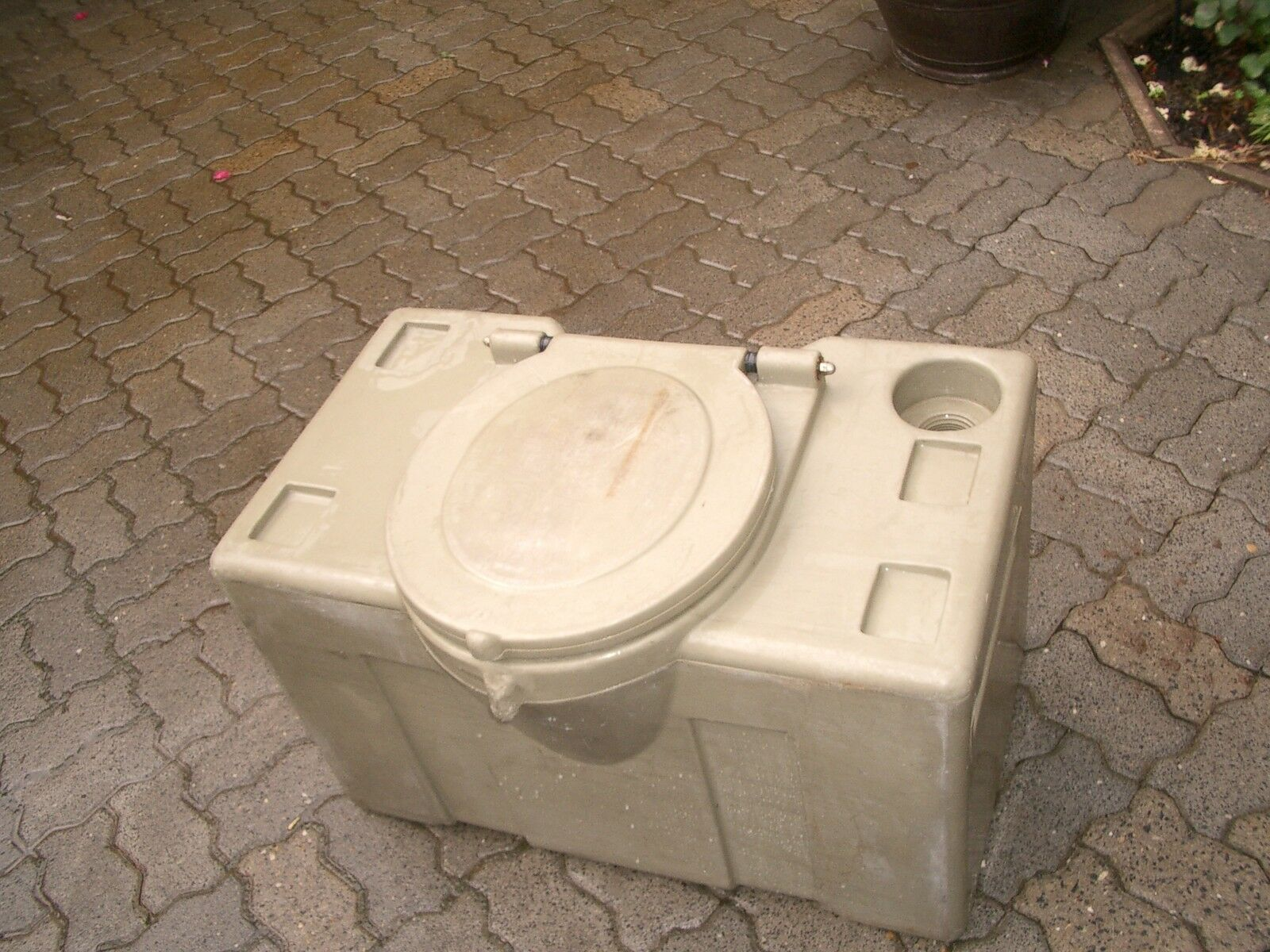 PVC Toaletttank Exchange Tank for Camping Garden Cellar or Construction Site Toilet Urinale