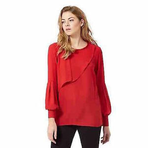 DEBENHAMS-PRINCIPLES-BY-BEN-DE-LISI-FRILLED-amp-PLEATED-BLOUSE-TOP-SIZES-8-TO-20