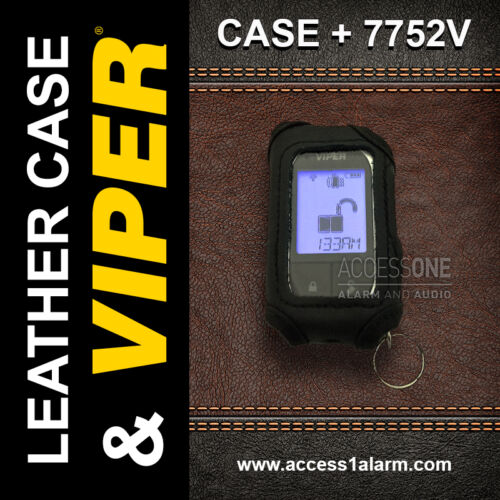 Viper 7752V 2-Way LCD Remote Control And Leather Case Combo For The 4702V 5501