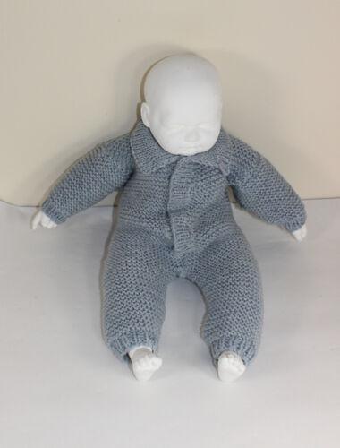Las instrucciones impresas Tejer-Collar bebé Aran simple Liga Puntada Todo en Uno