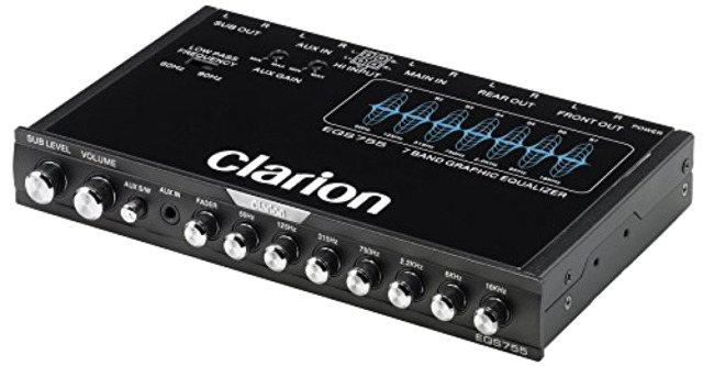 Clarion EQS755 Car 7-band Graphic Equalizer Audio Pre Amp High Level Speaker