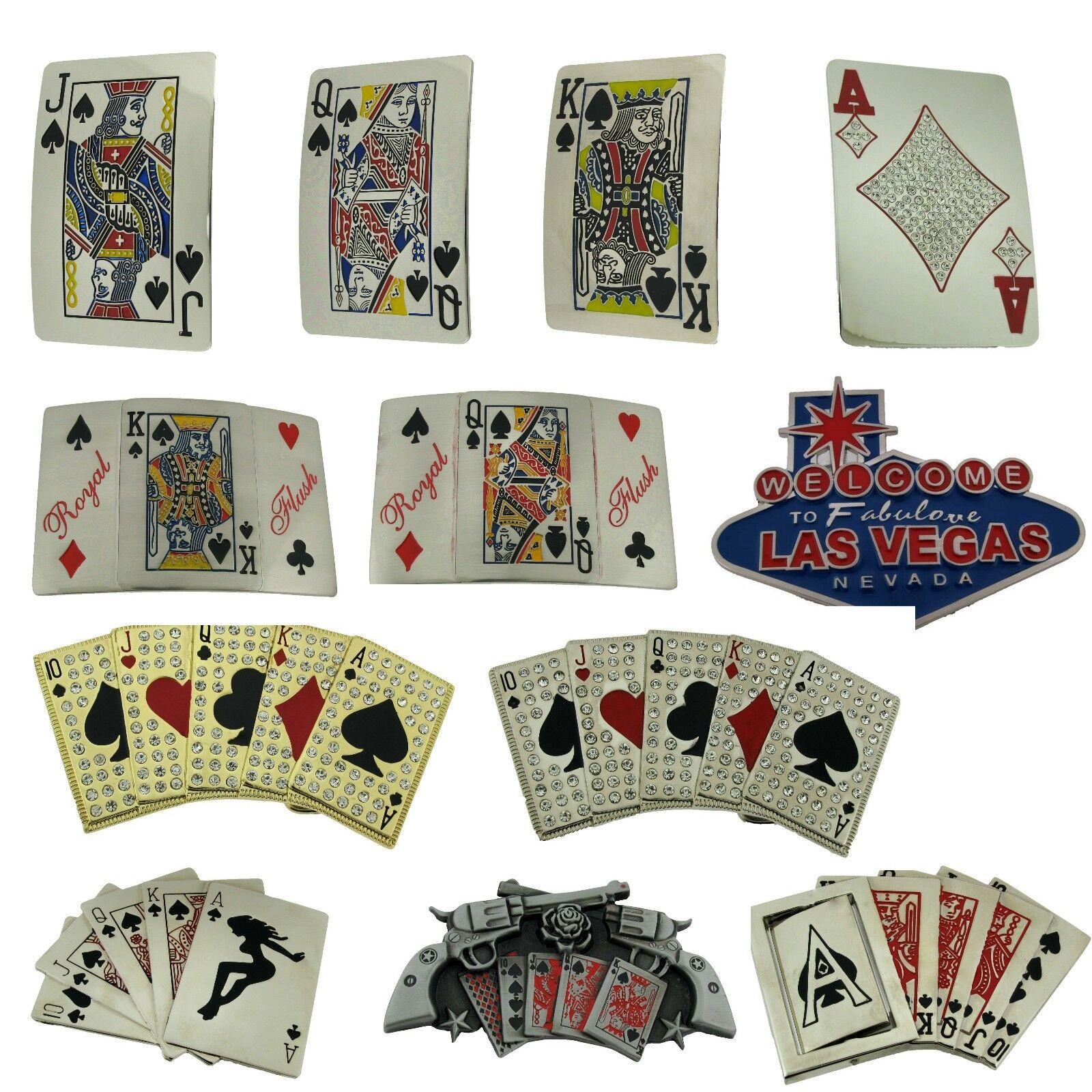 König Queen Jack Von Pik Gürtelschnalle Casino Spielkarten Spiel Gambler Herren