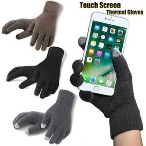 Mens Winter Warm Full Finger Smartphone Touch Screen Mittens Gloves 7 colors NEW