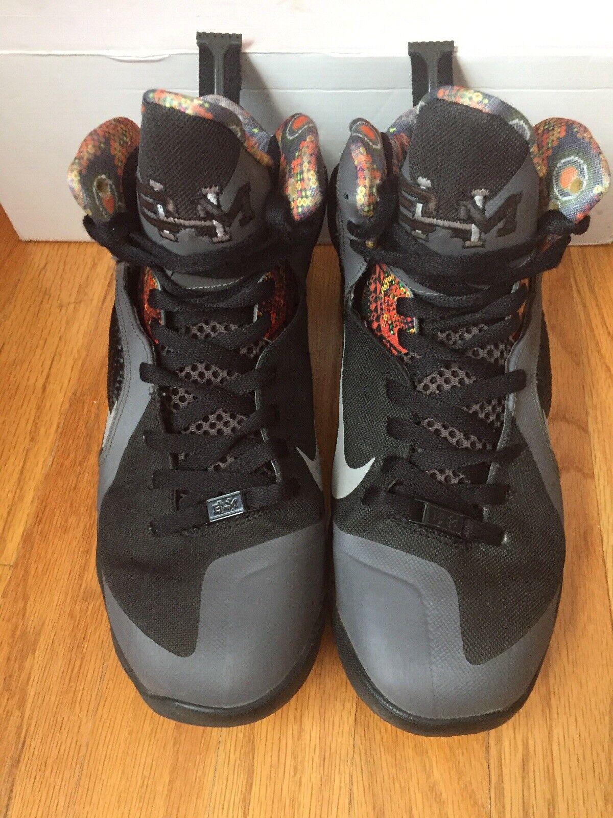 Nike Lebron 9 BHM 530962 Midnight Fog/Black Size 9.5 530962 BHM 001 190acd