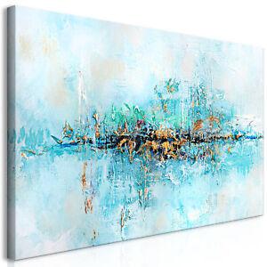 Details zu Wandbilder xxl Abstrakt Leinwand Bilder Abstraktes blau  Wohnzimmer a-A-0416-b-a
