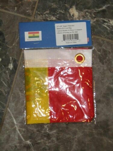 """12x18 12/""""x18/"""" Country of Bolivia Bolivian Motorcycle Flag Grommets"""