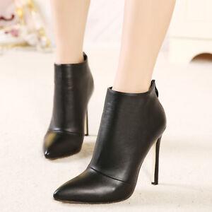 boots bottine sexy zip talon aiguille 11cm cuir ou daim 2. Black Bedroom Furniture Sets. Home Design Ideas
