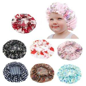 New Kids Girls Cap Turban Satin Bonnet Adjustable Sleep Caps Night Headwear Hats